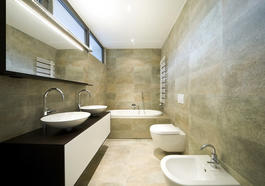 High-End Modern Master Bathroom