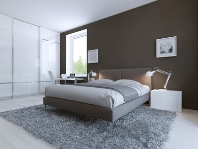 High-End Contemporary Guest Bedroom