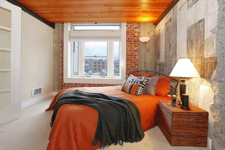 Practical Industrial Guest Bedroom
