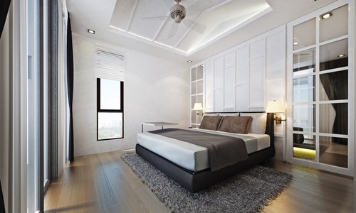 Upgraded Contemporary Guest Bedroom