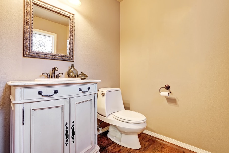 Upgraded Traditional Powder Room