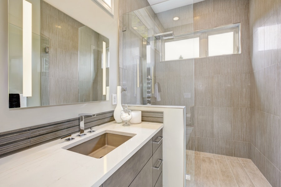 Upgraded Contemporary Master Bathroom