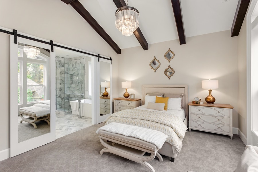 Upgraded Modern Master Bedroom