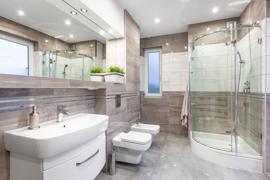 Upgraded Contemporary Guest Bathroom