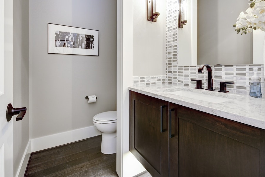 Upgraded Country Powder Room
